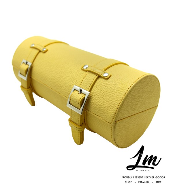 กระเป๋าหนังเก็บนาฬิกา - Yellow