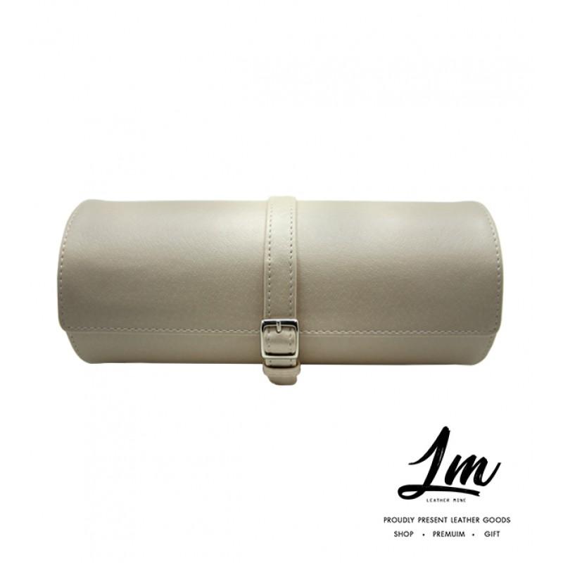 กระเป๋าหนังเก็บนาฬิกา - Cream