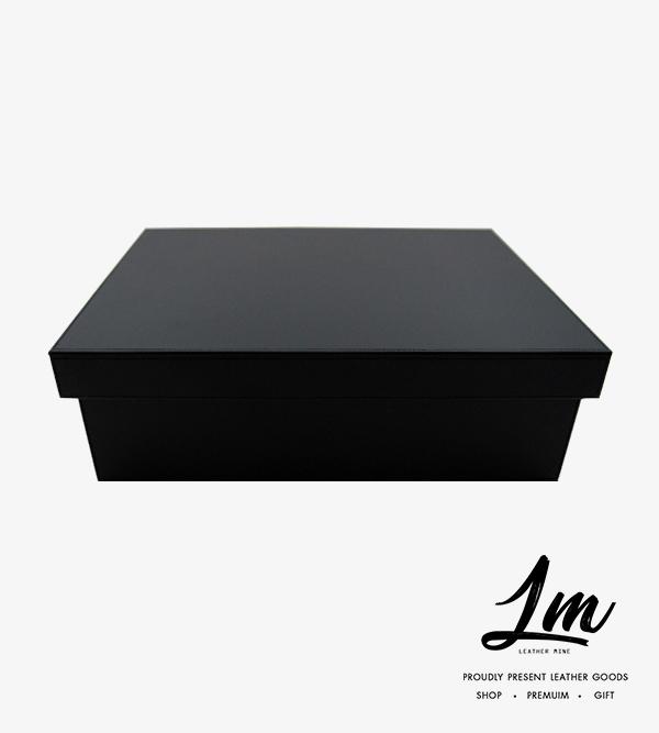 190355 - กล่องหนังเก็บของ สีดำ